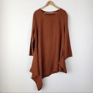 Bryn Walker Burnt Orange Linen Naida Tunic Top